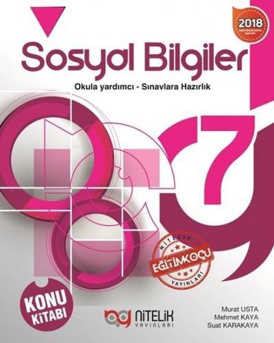 Nitelik Yayınları 7. Sınıf Sosyal Bilgiler Konu Kitabı Komisyon
