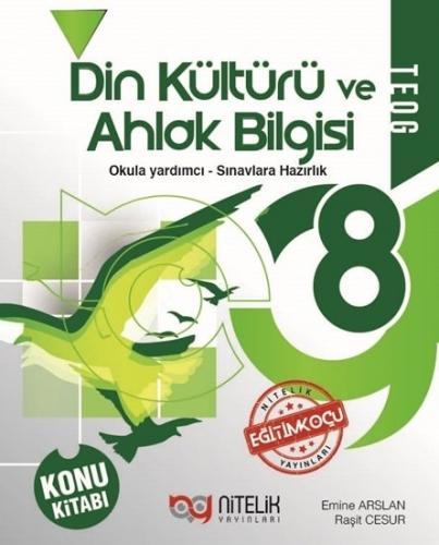 Nitelik Yayınları 8. Sınıf Din Kültürü ve Ahlak Bilgisi Konu Kitabı Ko
