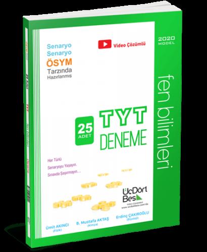 ÜçDörtBeş Yayınları TYT Fen Bilimleri 25 li Deneme