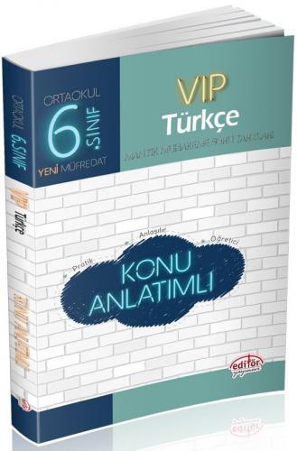 Editör 6. Sınıf VIP Türkçe Konu Anlatımlı
