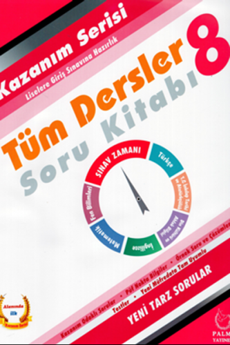 Palme Yayınları 8. Sınıf Tüm Dersler Kazanım Serisi Soru Kitabı Komisy