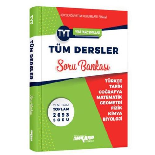 YKS TYT Tüm Dersler Soru Bankası - Ankara Yayıncılık