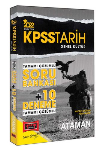 Yargı Yayınları 2022 KPSS Genel Kültür Tarih Ataman Tamamı Çözümlü Sor