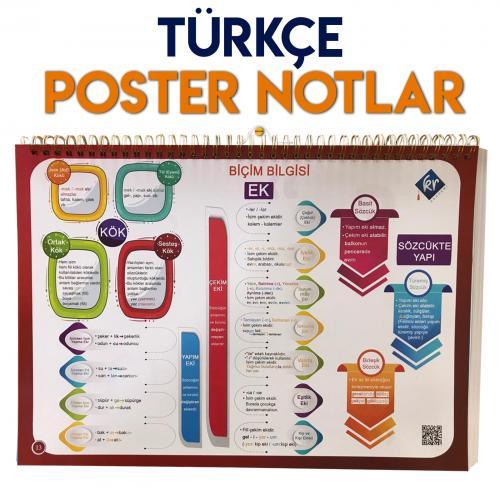KR Akademi TYT Türkçe Poster Notlar %40 indirimli
