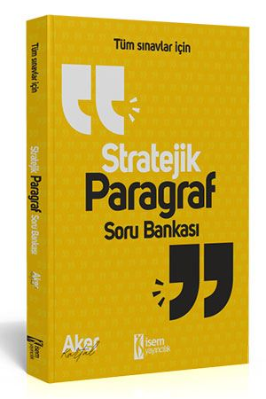İsem Yayınları 2020 Tüm Sınavlar İçin Stratejik Paragraf Soru Bankası