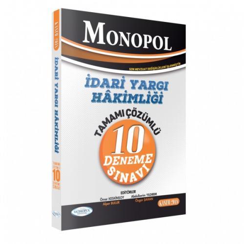 Monopol İdari Yargı Hakimliği Tamamı Çözümlü 10 Deneme Sınavı