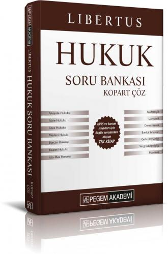 Pegem Yayınları 2019 KPSS A Grubu Libertus Hukuk Çek Kopart Soru Banka