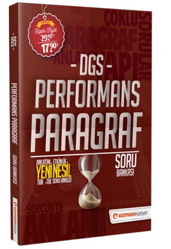 Uzman Kariyer Yayınları 2020 DGS Performans Paragraf Soru Bankası