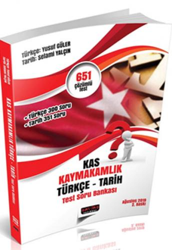 Savaş Yayınları 2019 KAS Kaymakamlık Sınavı Türkçe Tarih Test Soru Bankası