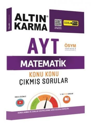 Altın Karma Yayınları AYT Matematik Konu Konu Çıkmış Sorular Video Çöz
