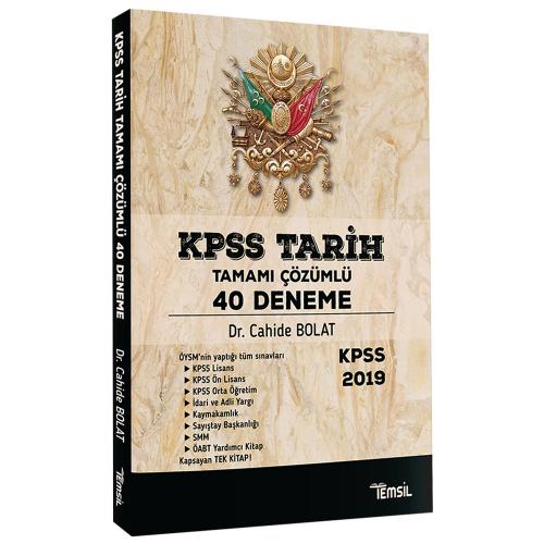 Temsil KPSS Tarih 40 Deneme Tamamı Çözümlü