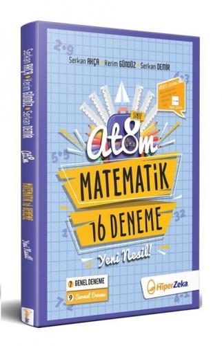 Hiper Zeka Yayınları 8. Sınıf Matematik 16 Yeni Nesil Deneme Atom