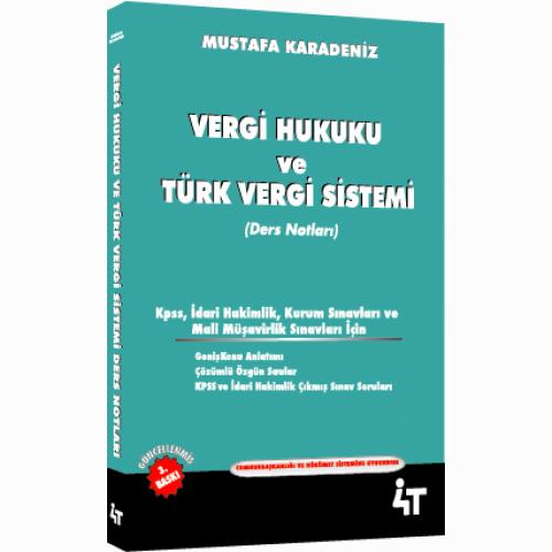 4T Vergi Hukuku ve Türk Vergi Sistemi Ders Notları %27 indirimli Musta