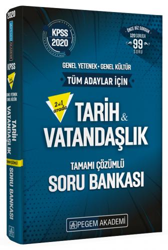 Pegem Yayınları 2020 KPSS Tarih-Vatandaşlık İkisi Bir Arada Soru Banka