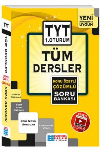 Evrensel İletişim TYT 1. Oturum Tüm Dersler Konu Özetli Çözümlü Soru Bankası