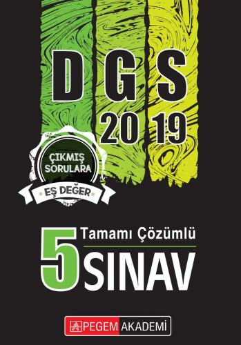 Pegem Yayınları 2019 DGS Tamamı Çözümlü 5 Sınav