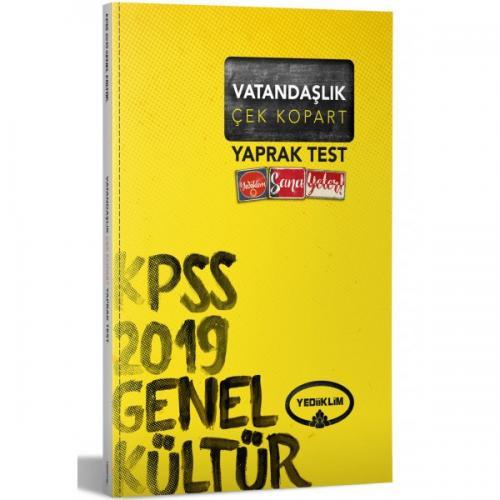 Yediiklim KPSS Genel Kültür Anayasa Çek Kopart Yaprak Test 2019
