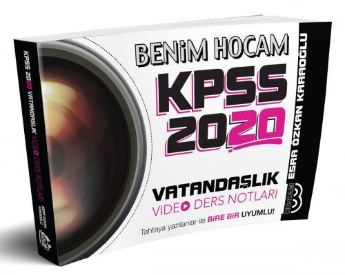 Benim Hocam Yayınları 2020 KPSS Vatandaşlık Video Ders Notları %40 ind
