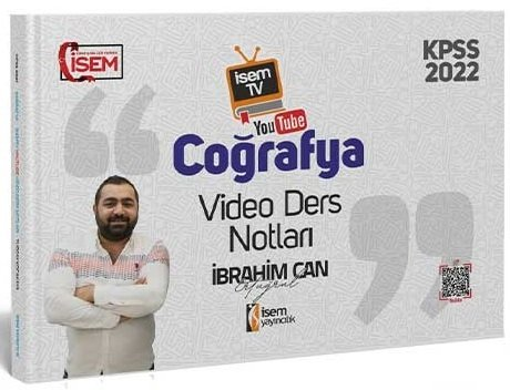 İsem Yayınları 2022 KPSS Coğrafya Video Ders Notları İbrahim Can Ertuğ