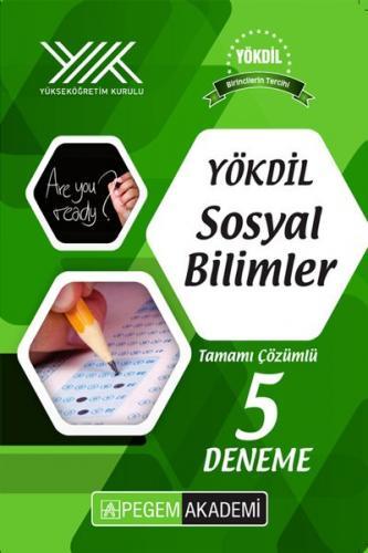 Pegem Yayınları YÖKDİL Sosyal Bilimler 5 Deneme Çözümlü