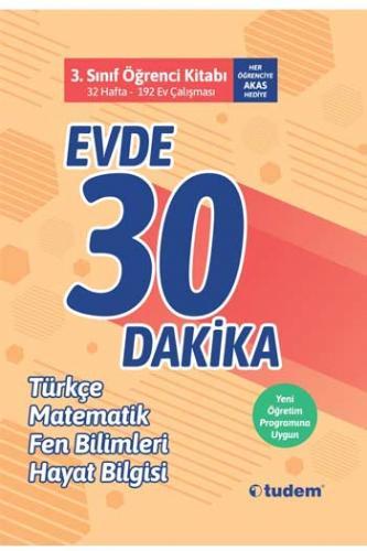 Tudem Yayınları 3. Sınıf Evde 30 Dakika Türkçe Matematik Fen Bilimleri Hayat Bilgisi Soru