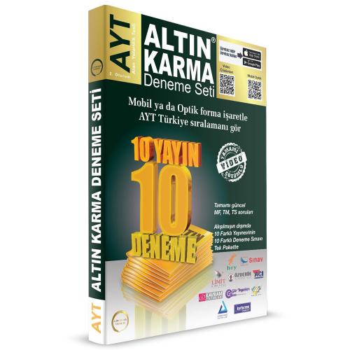Altın Karma AYT Deneme Seti 10 Farklı Yayın 10 Farklı Deneme