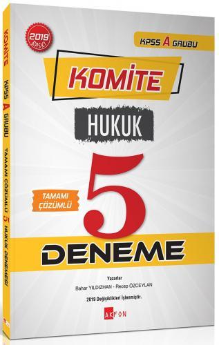 Akfon Yayınları Komite KPSS A Hukuk Tamamı Çözümlü 5 Deneme
