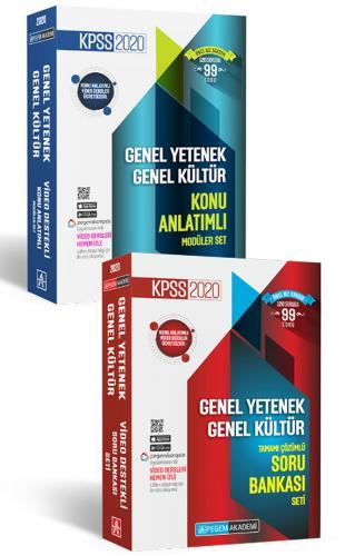 Pegem Yayınları 2020 KPSS Genel Yetenek Genel Kültür Video Destekli Ko