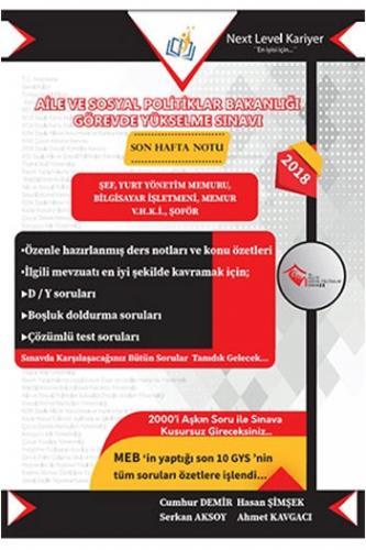 Next Level Kariyer Aile Ve Sosyal Politikler Bakanlığı Görevde Yükselme Sınavı 2. Kitap