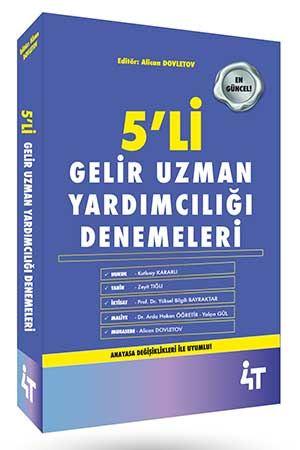 4T Yayınları Gelir Uzman Yardımcılığı 5 Deneme Arda Hakan Öğretir