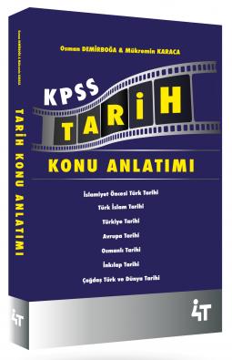 4T Yayınları KPSS Tarih Konu Anlatımlı Osman Demirboğa