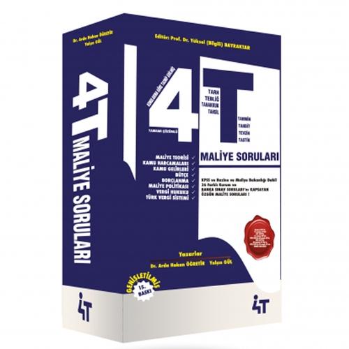 4T Yayınları Tamamı Çözümlü Özgün Maliye Soruları Yüksel Bilgili