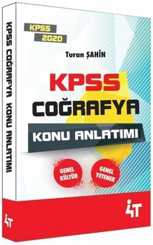 4T Yayınları 2020 KPSS Coğrafya Konu Anlatımı Turan Şahin