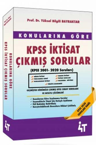 4T Yayınları KPSS İktisat Konularına Göre Çıkmış Sorular Yüksel Bilg