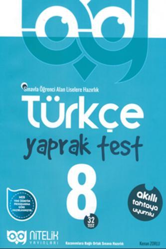 Nitelik 8. Sınıf Türkçe Yaprak Test