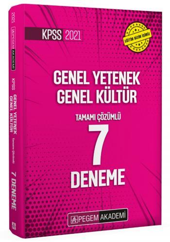 Pegem Yayınları 2021 KPSS Genel Yetenek Genel Kültür Tamamı Çözümlü 7