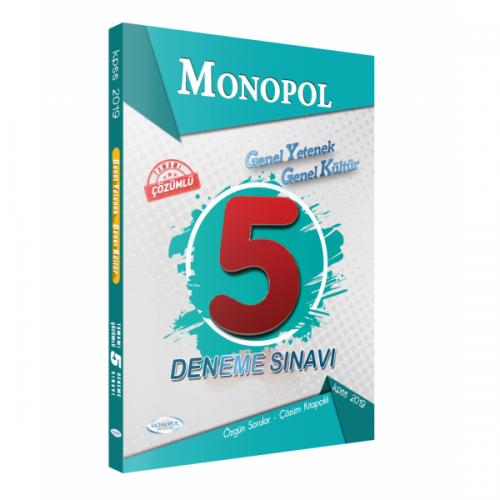 Monopol KPSS Genel Yetenek Genel Kültür Tamamı Çözümlü 5 Deneme Sınavı 2019
