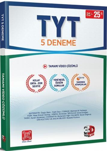 Çözüm TYT 3D  5 Deneme