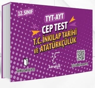 Karekök Yayınları TYT AYT T.C. İnkılap Tarihi ve Atatürkçülük Cep Test