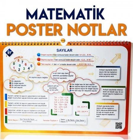 KR Akademi YKS TYT Matematik Poster Notlar %35 indirimli
