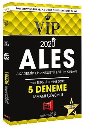 Yargı Yayınları 2020 ALES VIP Tamamı Çözümlü 5 Deneme
