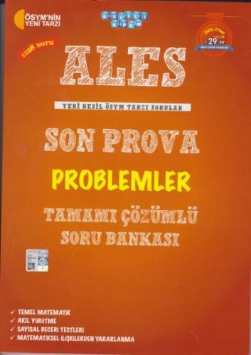 Akıllı Adam ALES Son Prova Problemler Tamamı Çözümlü Soru Bankası Komi