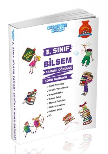 Akıllı Adam Yayınları 3. Sınıf BİLSEM Soru Bankası Çözümlü Kolay Seri