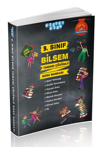 Akıllı Adam Yayınları 3. Sınıf BİLSEM Soru Bankası Çözümlü Zor Seri