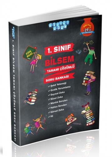 Akıllı Adam Yayınları 1. Sınıf BİLSEM Soru Bankası Çözümlü Zor Seri