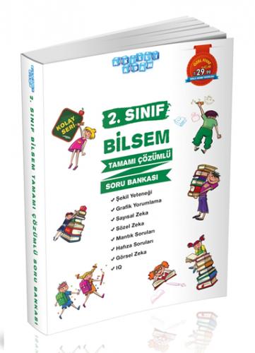 Akıllı Adam Yayınları 2. Sınıf BİLSEM Soru Bankası Çözümlü Kolay Seri