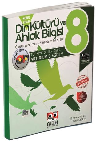 Nitelik Yayınları 8. Sınıf Din Kültürü ve Ahlak Bilgisi Artırılmış Kon