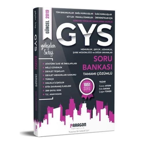 Paragon Yayıncılık 2019 Tüm Kurumlara Yönelik Memurluk Şeflik Müdürlük Uzmanlık ve Diğer Unvanlar için GYS Çözümlü Soru Bankası