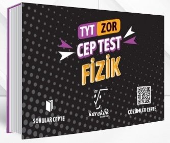 Karekök Yayınları TYT Fizik Zor Cep Test %40 indirimli Komisyon