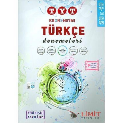 Limit Yayınları TYT Türkçe Kronometre Denemeleri